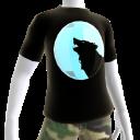 Silver Chrome Wolf Black Shirt