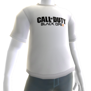 COD: Black Ops II Logo Shirt White - Male