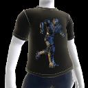 Camiseta de agente corriendo