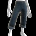 Denim-Jeans mit Aufschlag