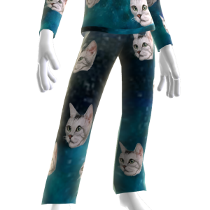 Epic Laser Cat Blue PJ Bottom