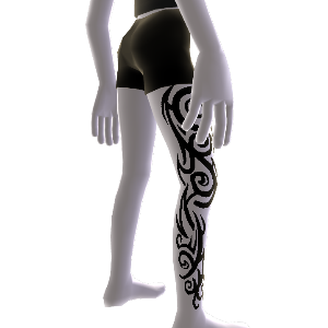 Muster Tattoo und Shorts