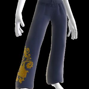 Pantalon Yoga Bleu