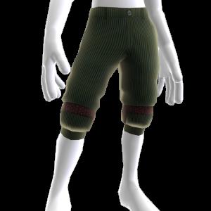 Green Pants with Leg Straps