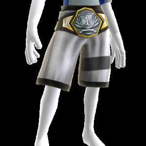 Championship Belt Platinum - White