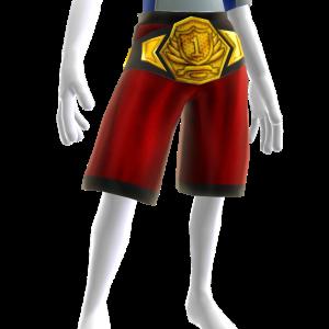 Championship Belt Gold - Red