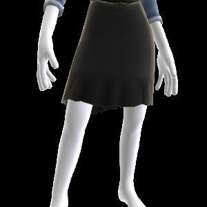 黒のミニ・フレアスカート