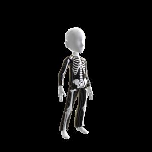 Halloween Skull Suit Blk Chrme