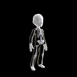 Halloween Skull Suit Blk