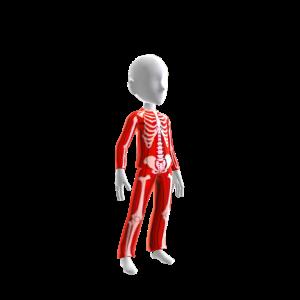 Halloween Skull Suit Red Chrme