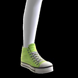 High Top Sneakers - Neon Green