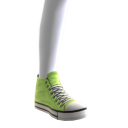 High Top Sneakers - Neon Green