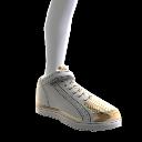 Chaussures montantes à dessus doré
