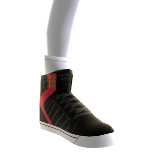 Black Red and White Skytop