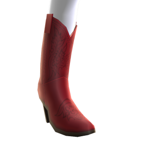 Botas de vaquera rojas