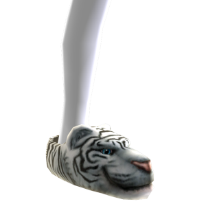 Tiger White Slippers