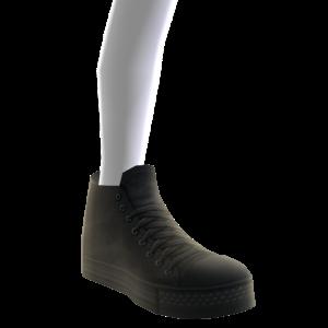 High Top Sneakers - Black
