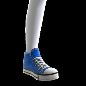 High Top Sneakers - Blue