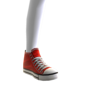 High Top Sneakers - Red
