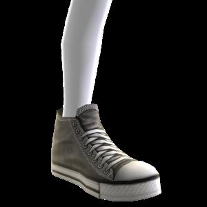 High Top Sneakers - Grey