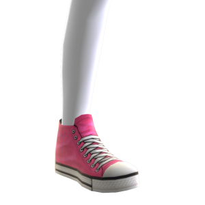 High Top Sneakers - Pink