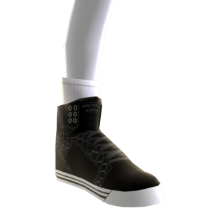 Black Croc and White Skytop