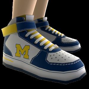 Michigan High Top Shoes