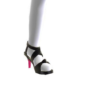 Black and Pink Strap Heels