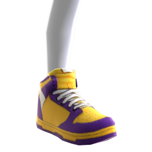 Sneakers - Purple and Gold