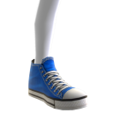 High Top Sneakers - Blue