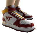 Virginia Tech High Top Shoes