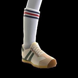 klassische Sneaker + Tube Socks