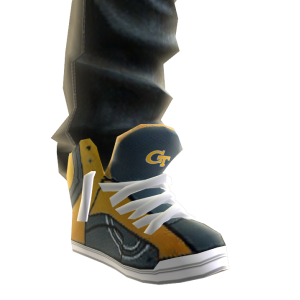 Georgia Tech Jeans and Sneakers