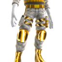 Modular Pants - White and Gold
