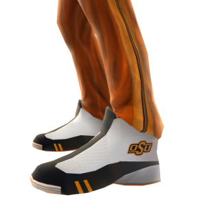 Oklahoma State Track Pants and Sneakers