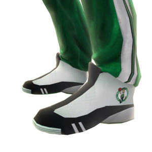 Celtics Track Pants and Sneakers