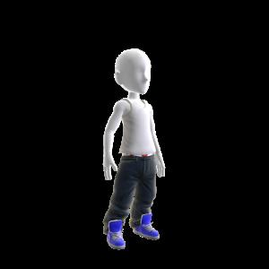 Baller Jeans with Blue Kicks