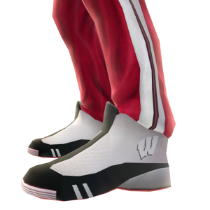Wisconsin Track Pants and Sneakers