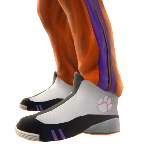 Clemson Track Pants and Sneakers