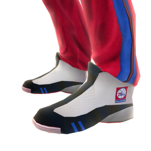 76ers Track Pants and Sneakers