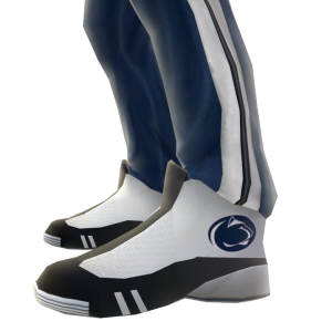 Penn State Track Pants and Sneakers