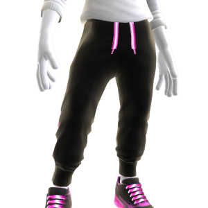 Joggers and Sneakers - Bling Pink