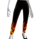 Flaming Fire Leggings