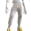 Bling Joggers and Sneakers - White