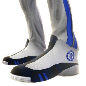 Chelsea White Track Pants and Sneakers