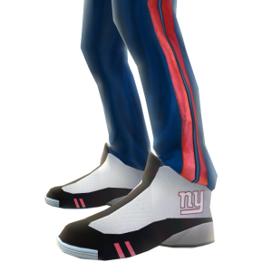 New York Giants Track Pants and Sneakers