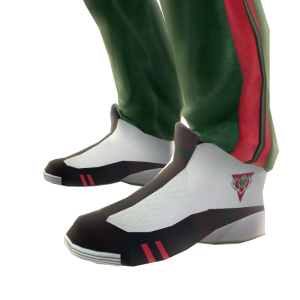 Bucks Track Pants and Sneakers