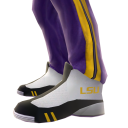 LSU Track Pants and Sneakers