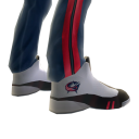 Blue Jackets Track Pants and Sneakers