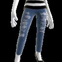 Skinny Blue Acid Wash Jeans